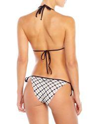 Aquascutum - Check Triangle Bikini - Lyst