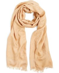 Tory Burch All-Over T Jacquard Scarf - Lyst