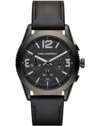 shop men s karl lagerfeld watches from 98 lyst page 2 karl lagerfeld kurator chronograph leather strap watch lyst