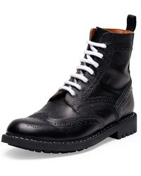 Givenchy Commando Leather Runway Boot - Lyst