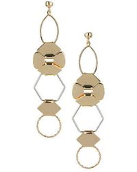 Topshop Open Shaped Drop Earrings - Lyst