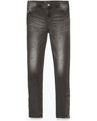Zara Mid-Rise Skinny Jeans - Lyst