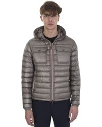 Moncler - Turtledove Bomber Jacket Douret Feather Hooded - Lyst