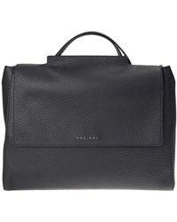 Orciani - Black Leather Sveva Big Bag - Lyst