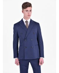 Boglioli - Cotton And Wool Suit - Lyst