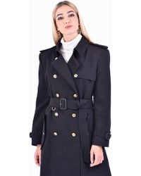 Givenchy - Double Brested Wool Trench - Lyst