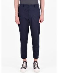 McQ - Cotton Trousers With Zip Details - Lyst