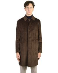 Dell'Oglio - Ribbed Velvet Coat - Lyst