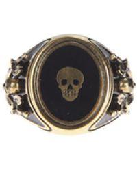 Alexander McQueen | Enamelled Metal Ring | Lyst