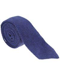 Roda - Bright Blue Textured Tie - Lyst