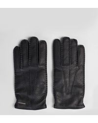 Lardini - Deer Leather Gloves - Lyst