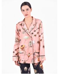 For Restless Sleepers - Printed Silk Shirt - Lyst