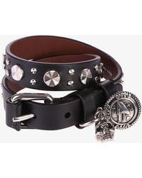 Alexander McQueen - Wrap Leather Bracelet - Lyst