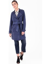 Desa - Suede Leather Trench - Lyst