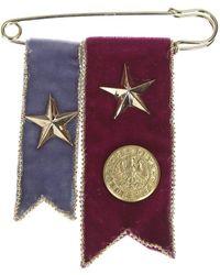 Rosantica - Velvet Metallic Embellished Military Brooch - Lyst