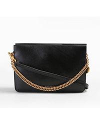 e0b322f3b4a6 Givenchy Pandora Box Metallic Leather Chain Crossbody Bag in Pink - Lyst