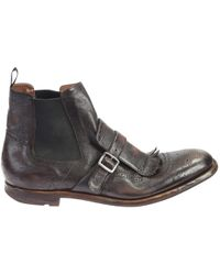 Church's - Shanghai Vintage Leather Boots - Lyst