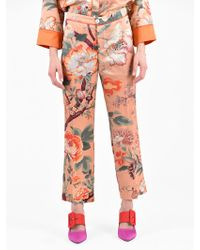 For Restless Sleepers - Silk And Cotton Trousers - Lyst