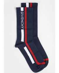Givenchy - Logo Print Cotton Blend Socks - Lyst