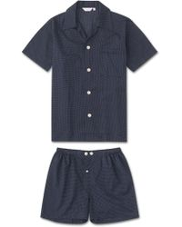 Derek Rose - Short Pyjamas Plaza 21 Cotton Batiste Polka Dot Navy - Lyst