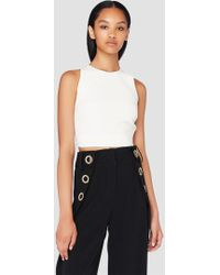 10 Crosby Derek Lam - Cropped Shell With Elastic Back - Lyst