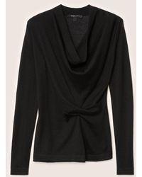 Derek Lam - Long Sleeve Sweater With Drape Front - Lyst