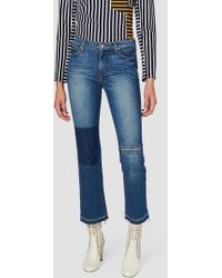 10 Crosby Derek Lam - Gia Mid-rise Cropped Flare - Patchwork - Lyst