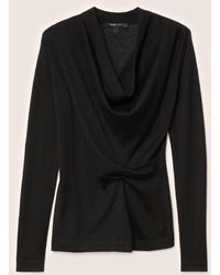 Derek Lam - Long Sleeve Sweater With Drape Front - Lyst