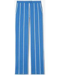 Derek Lam - Cotton Twill Pinstripe Trousers - Lyst