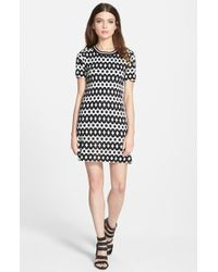JOA Print Knit Dress - Lyst