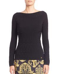 Versace   Long-sleeve Top   Lyst