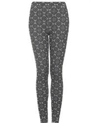 Topshop Womens Tile Star Jacquard Treggings  Grey - Lyst
