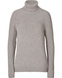 See By Chloé Wool Blend Ribbed Knit Turtleneck Pullover - Lyst