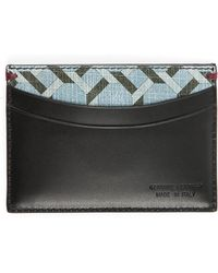 Paul Smith Black Pattern Leather Card Wallet - Lyst