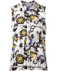 Opening Ceremony Palm Tree Print Sleeveless Shirt - Lyst