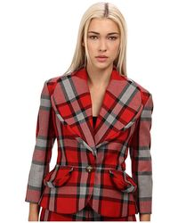 Vivienne Westwood Red Label Red Plaid Blazer - Lyst