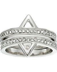 Rebecca Minkoff - Two Piece Stack Triangle Ring - Lyst