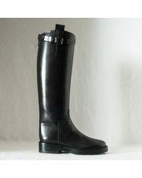 Ann Demeulemeester boots knee boots heel boots - Lyst