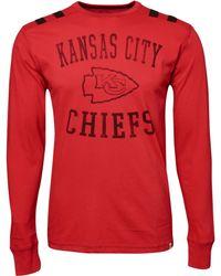 47 Brand Mens Longsleeve Kansas City Chiefs Bruiser Tshirt - Lyst