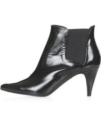 Topshop Womens Piccolo Premium Ankle Boots  Black - Lyst
