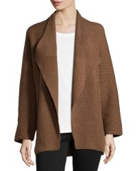 Lafayette 148 New York Long-Sleeved Wool and Cashmere Cardigan - Lyst