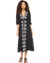 Free People Embroidered Dress Black Combo - Lyst