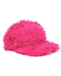 House Of Holland Fur Snap Back Cap - Lyst