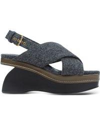 Marni Sandals gray - Lyst