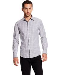 Vince Camuto Fossil Print Sport Shirt - Lyst