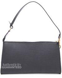 Louis Vuitton Pre-owned Black Epi Leather Pochette Accessories Bag - Lyst