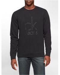 Calvin Klein   Jeans Light Indigo Wash Logo Sweatshirt   Lyst