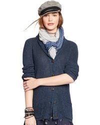 Denim & Supply Ralph Lauren Blue Shawl-Collar Cardigan - Lyst