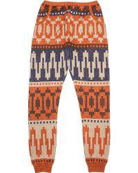 Tak.ori - Pants In Metallic Brown - Lyst