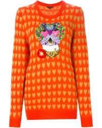 Manish Arora - Intarsia Embellished Jumper - Lyst